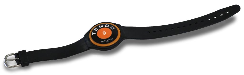 Tendo Sprint System wristband by Tendo Sport used for automatic athlete recognition (RFID)