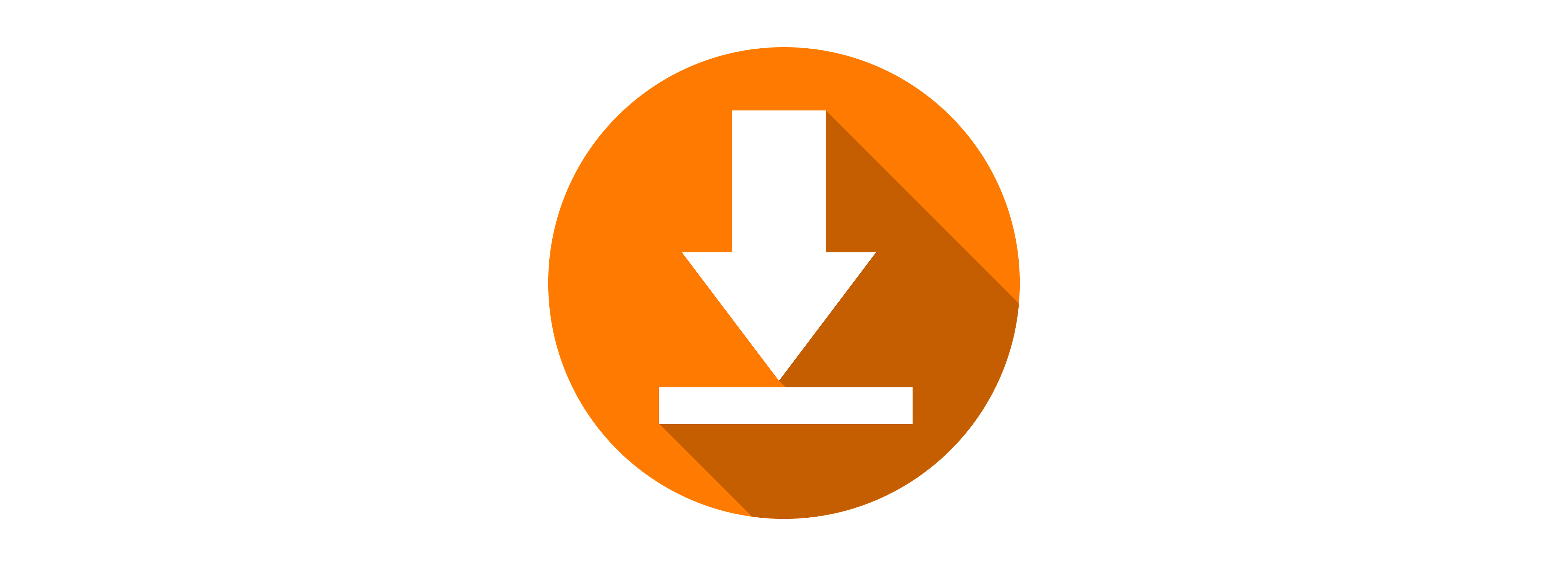 Download icon in orange circle