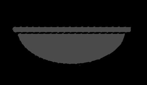 Bosu ball silhouette in grey - Tendo Sport