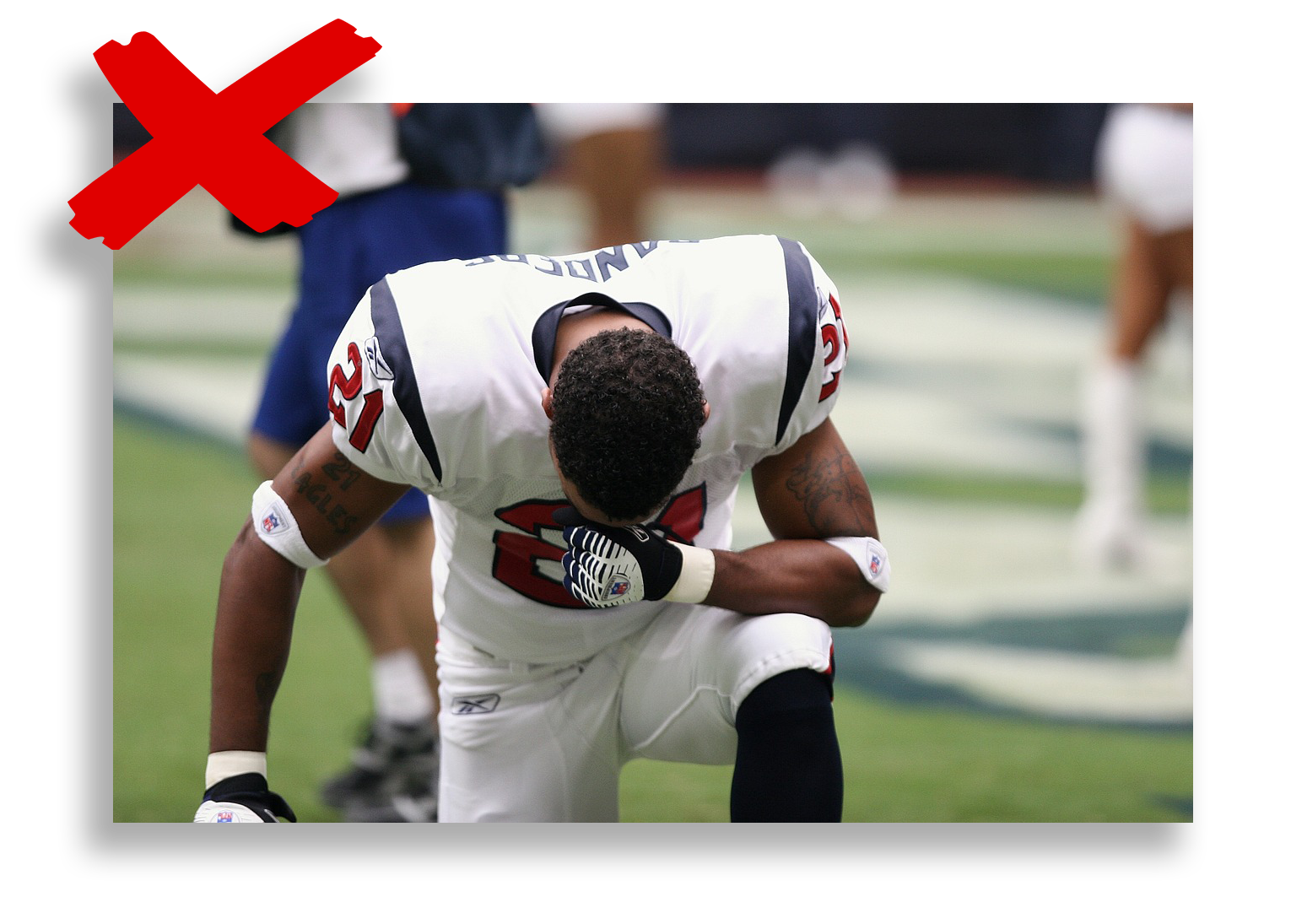 An american football player feeling sad after a lost match - Tendo Sport