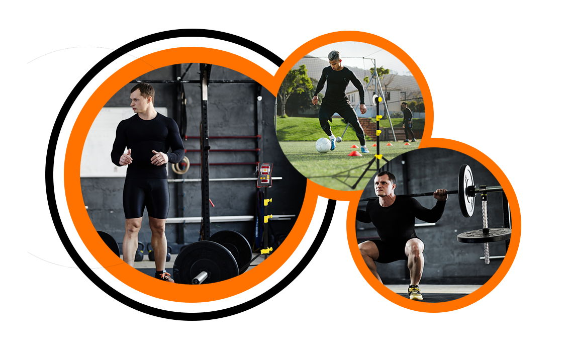 Tendo Sport products overview in three circles