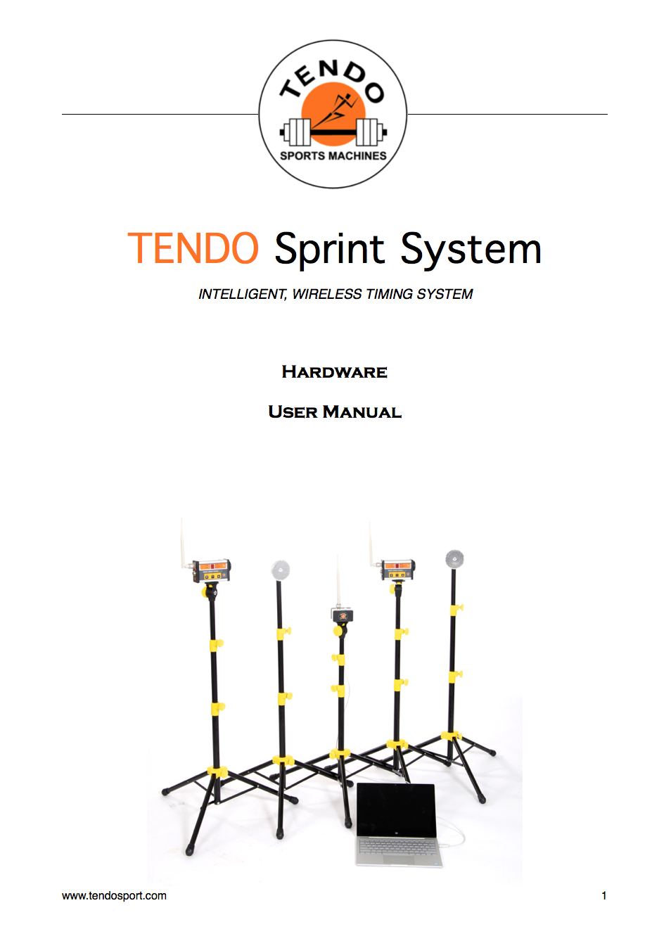 Tendo Sprint System hardware manual cover