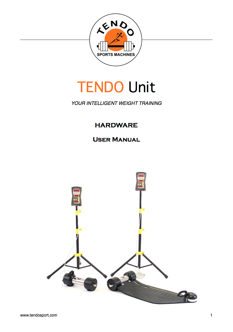 Tendo Unit hardware manual cover