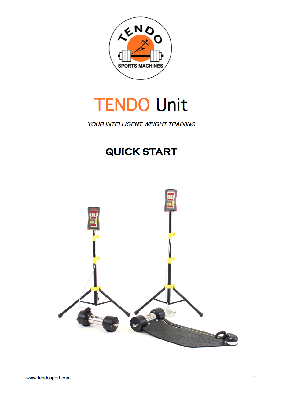 Tendo Unit quick start manual cover
