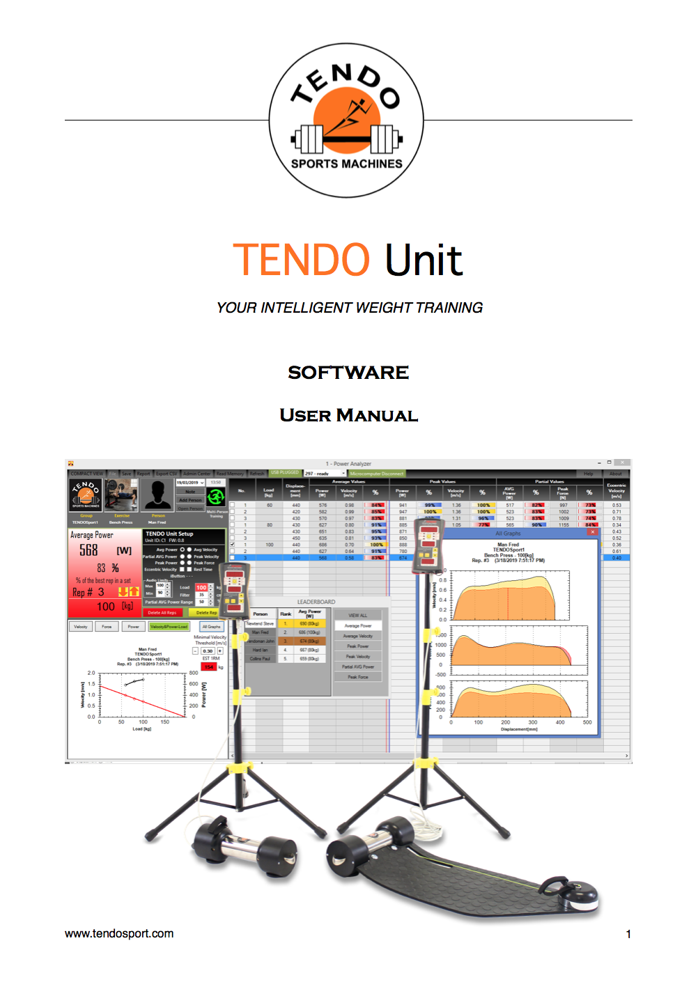 tendo unit computer software manual cover