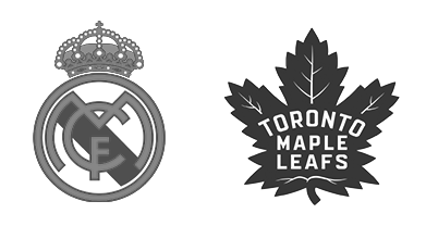 Tendo Sport customers: New York Yankees, Real Madrid c.f., Toronto Maple Leafs