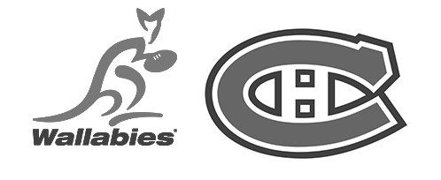 Tendo Sport customers: Wallabies, Montreal Canadiens
