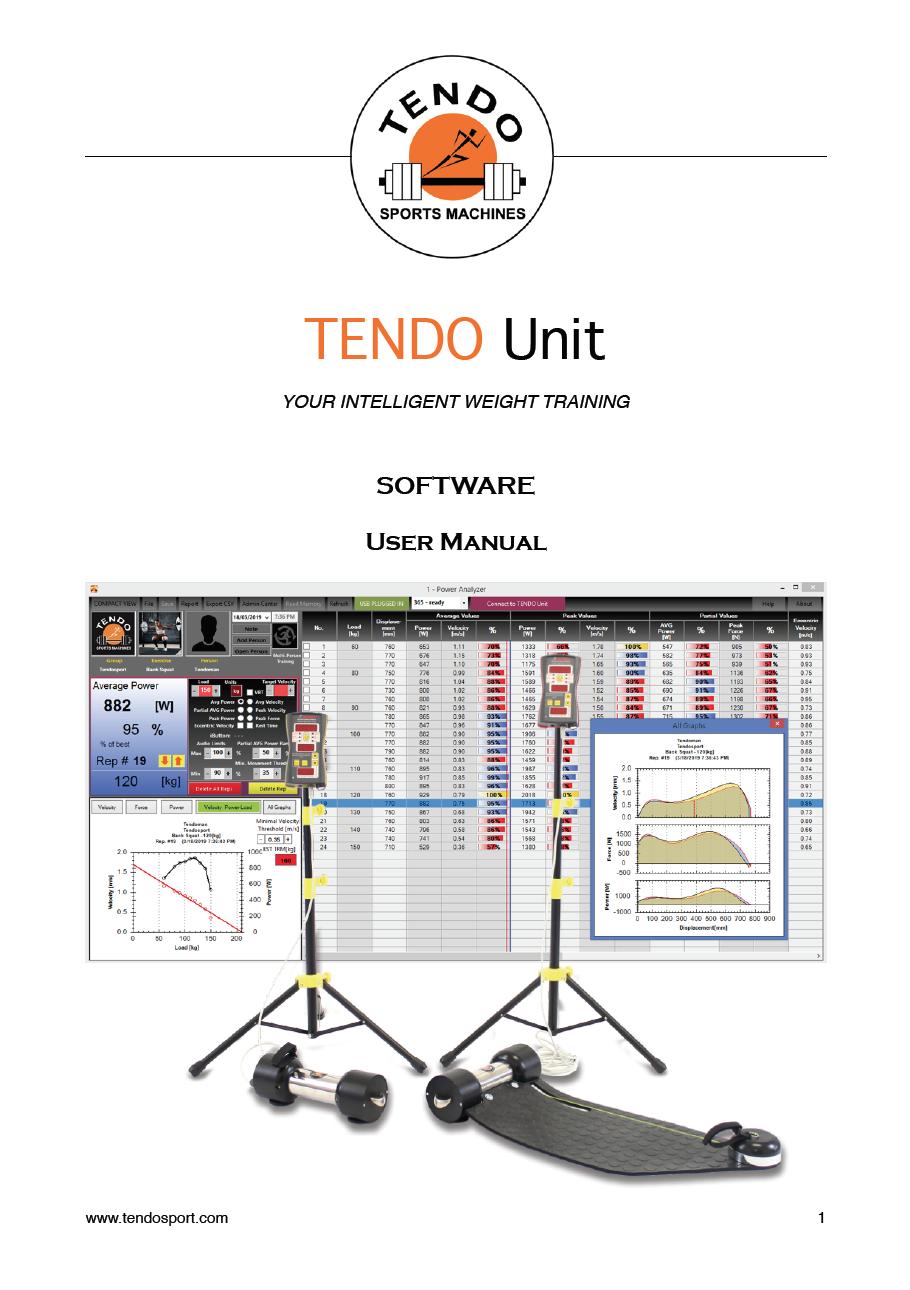 Tendo Unit software manual