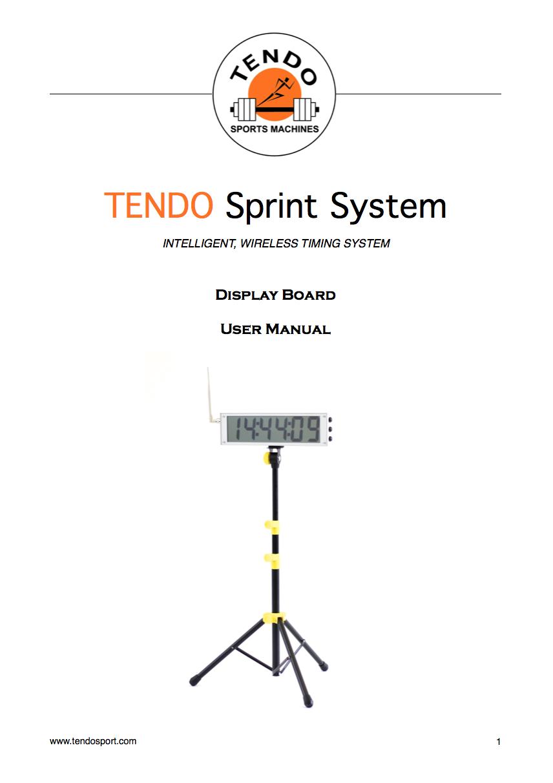 Tendo Sprint System Display Board manual